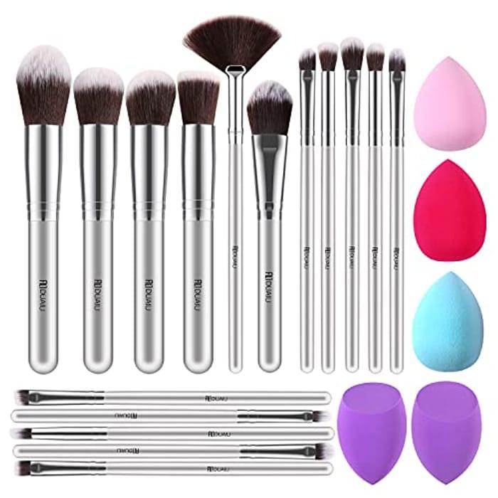 16pcs Makeup Brush Set + 5 Make up Sponges