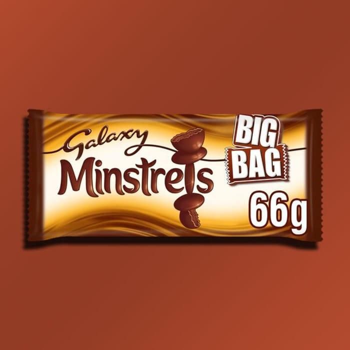 30 X Galaxy Minstrels Chocolate 66g Big Packs