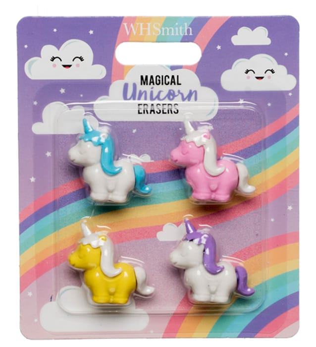 Magical Unicorn Erasers (Pack of 4)