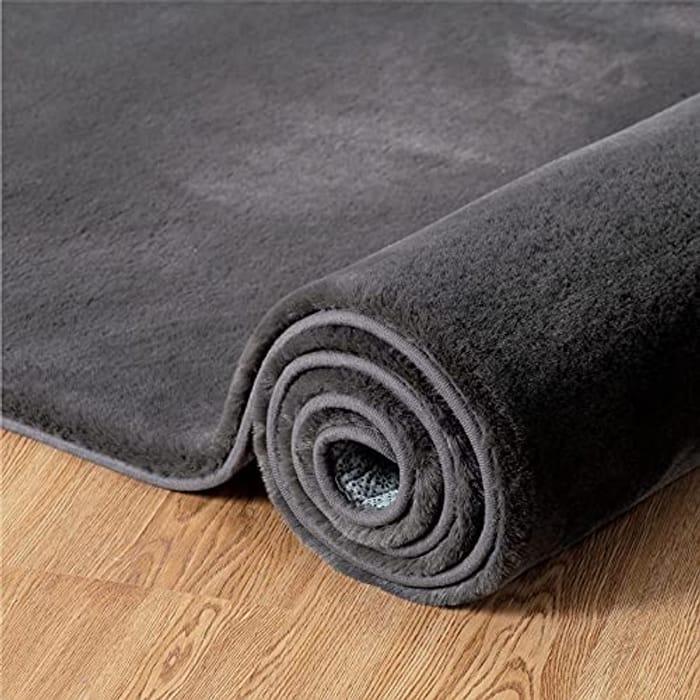 BEDSURE Super Soft Fluffy Faux Carpet Living Room Area Rug - Only £18.49!