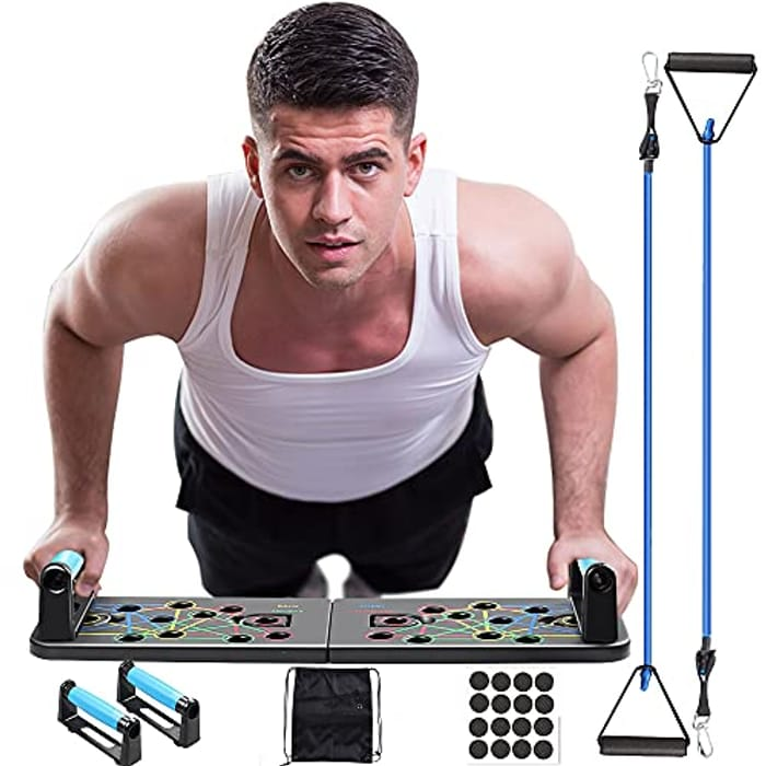 Multifunctional Push up Board with Resistance Bands