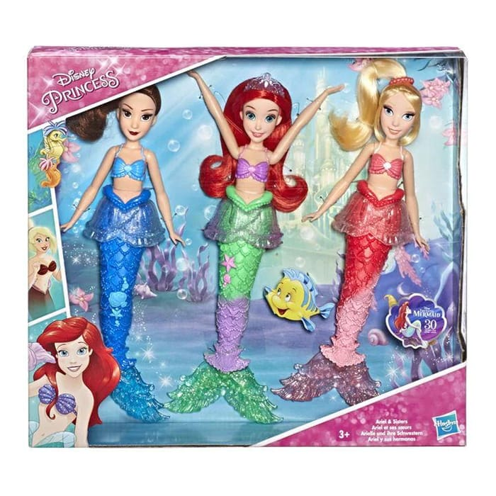 Cheap Disney Princess Ariel and Sisters Fashion Dolls at House of Fraser