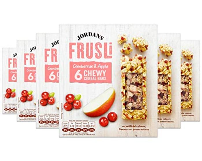 Jordans Frusli Cranberry & Apple | Cereal Bars | Vegetarian |30 Gm (Pack of 6)