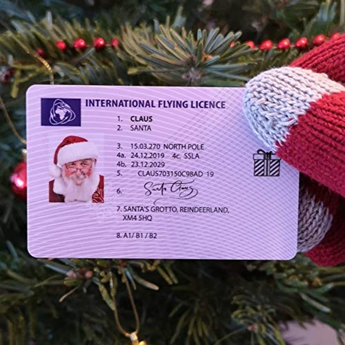 CHEAP! SANTA's (LOST HIS) Flying Licence ! Look Mummy! Look Daddy!