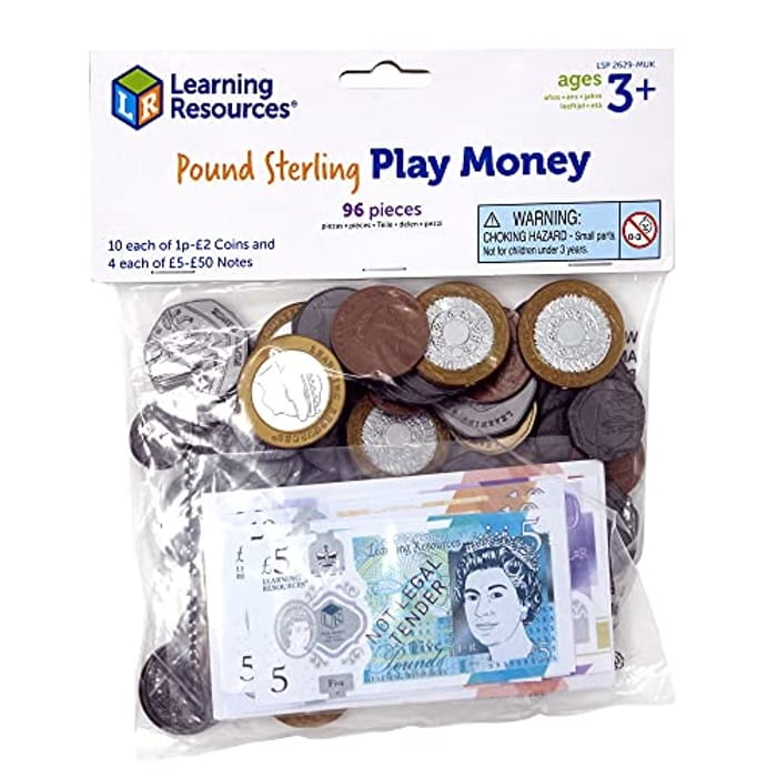 Learning Resources UK Pound Sterling Play Money for Kids