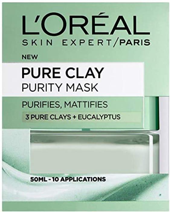 L'Oreal Paris Pure Clay Purity Mattifying Eucalyptus Face Mask 50 Ml