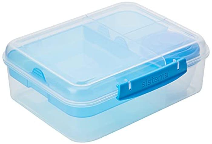 Sistema Bento Box to GO Lunch Box with Yoghurt/Fruit Pot 1.65 L BPA-Free Blue