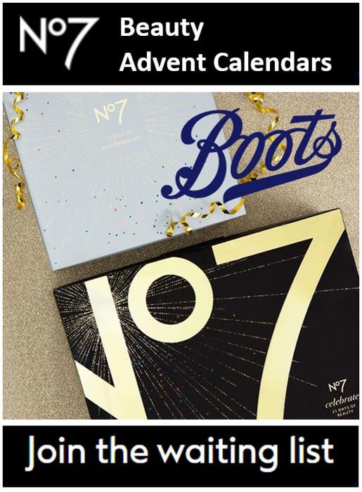 Boots No7 Beauty Advent Calendars - Christmas 2021 - SUPERB VALUE!