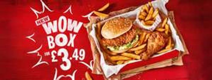 KFC Wow Box Fillet Burger + 1 Piece Chicken + Fries Expires 30 Nov