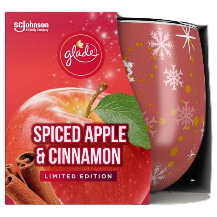 Glade Scented Candle - Spiced Apple & Cinnamon