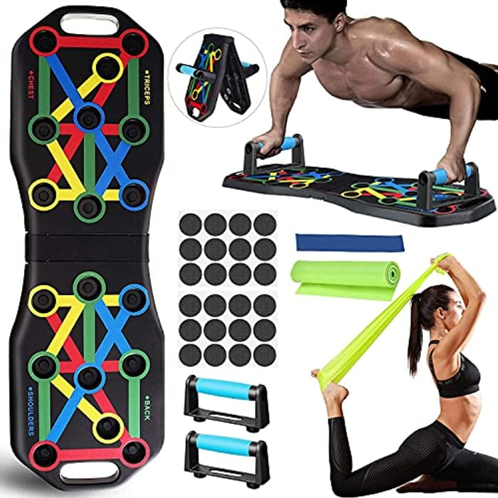 Foldable Portable Fitness Pushup Board 14 in 1