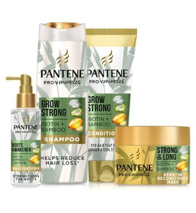 Pantene Grow Strong with Bamboo Bundle worth £24.96 Only £10