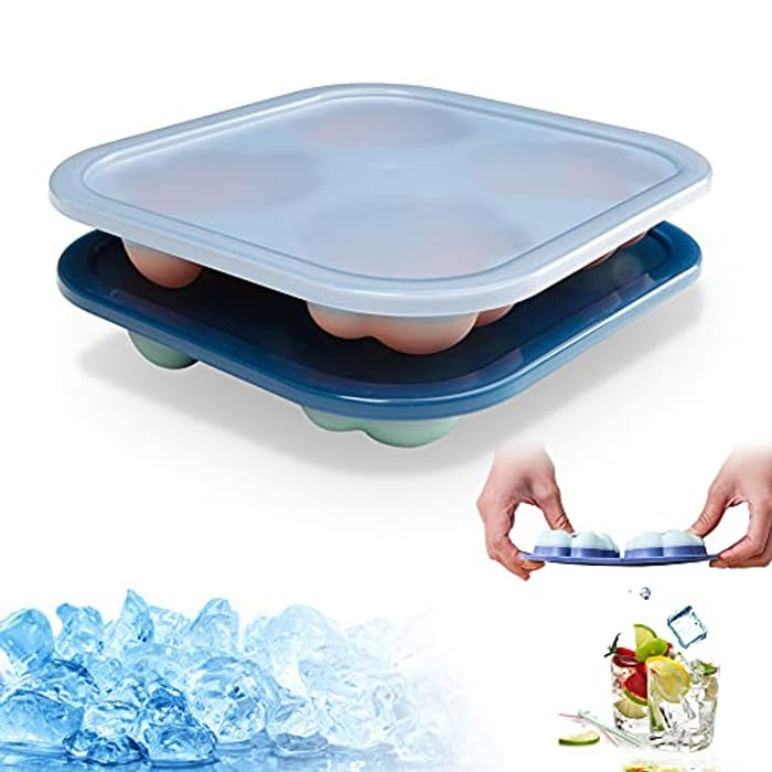 Cat Paw Ice Cube Tray with Lid 2 Pack