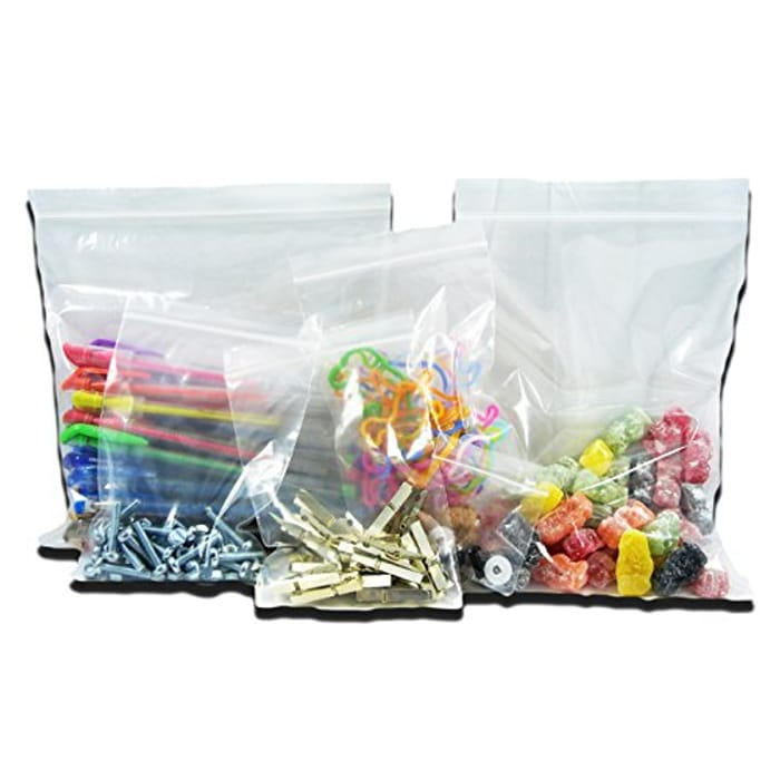 100 Resealable Reusable Poly Plastic Bags