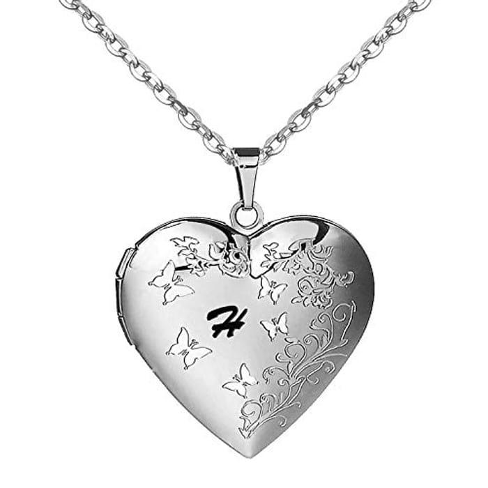 Cheap Heart Butterfly Locket Necklace