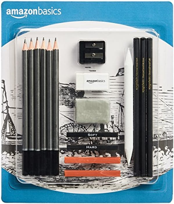 Amazon Basics Sketch and Drawing Pencil Set - 17 Pieces