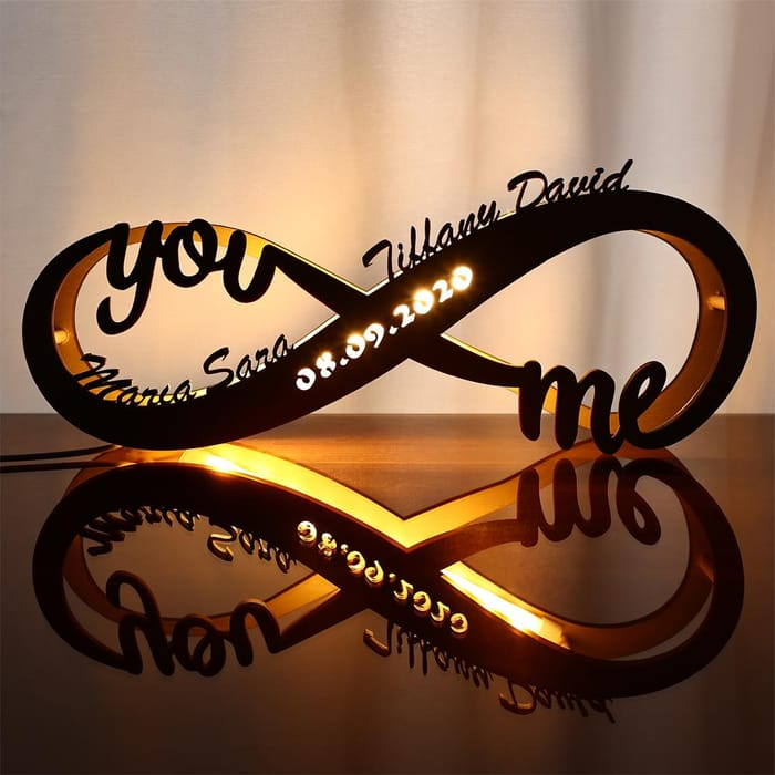 Name Sign Lamp Infinity Love