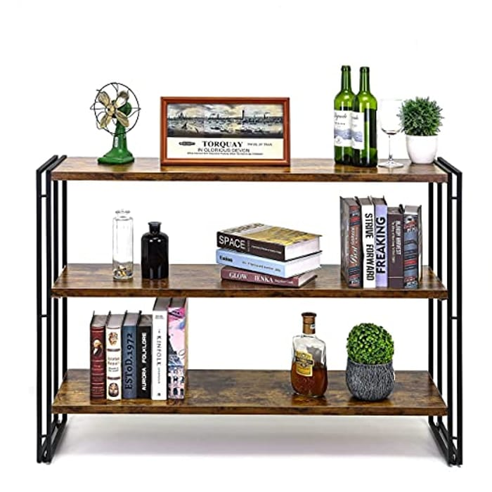 HOFLERA 3-Tier Stand Plant Stand 3-Tire Wood Bookshelves - Only £35!
