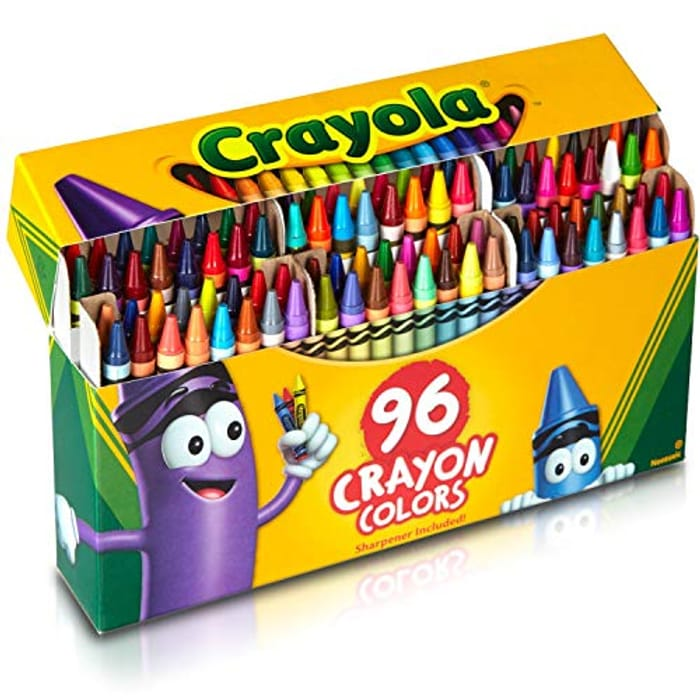 Crayola; Crayons; Art Tools; 96 ct.; Durable, Long-Lasting Colors - Only £6.90!
