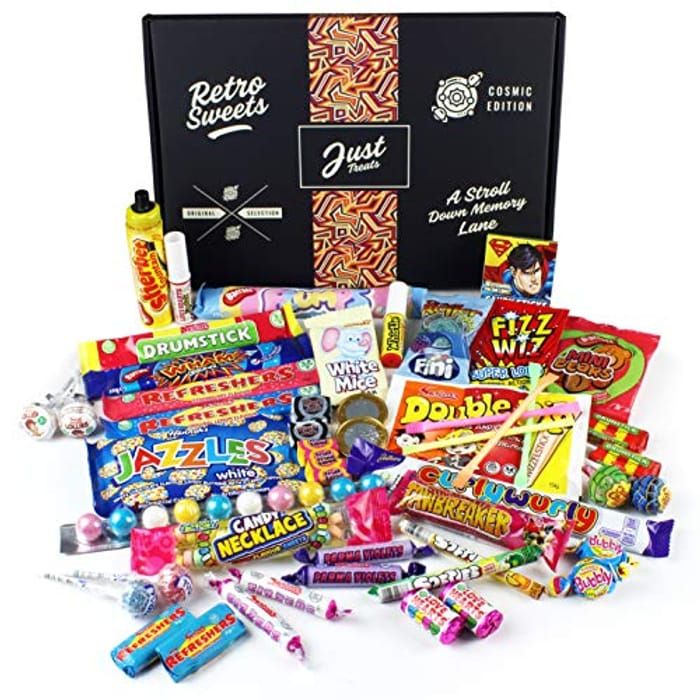 Retro Sweets Gift Box: Just Treats Cosmic Gift Box: Jam Packed