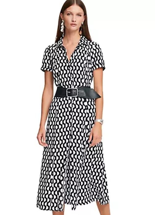 Cheap Heine Graphic Print Shirt Dress - Save £11.99!