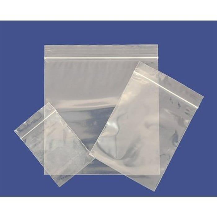 "100 Plain Resealable Reusable Grip Seal Clear Plastic Bags - (5.50"" X 5.50"")"