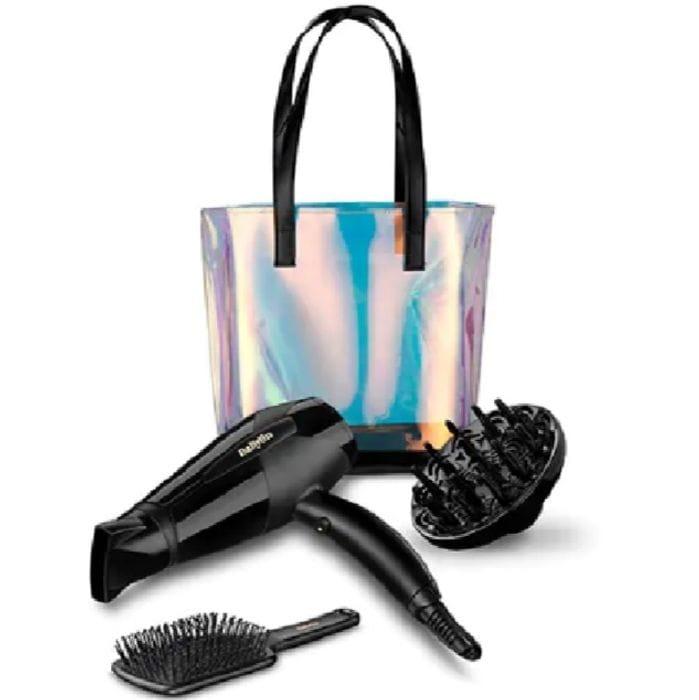 BaByliss Hair Dryer Iridescent Shimmer Tote Bag Gift Set