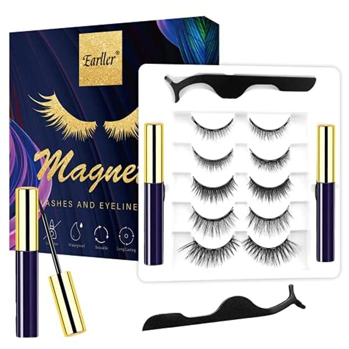 EYEKESHE 5 Pairs Magnetic Eyelashes with Eyeliner Kit