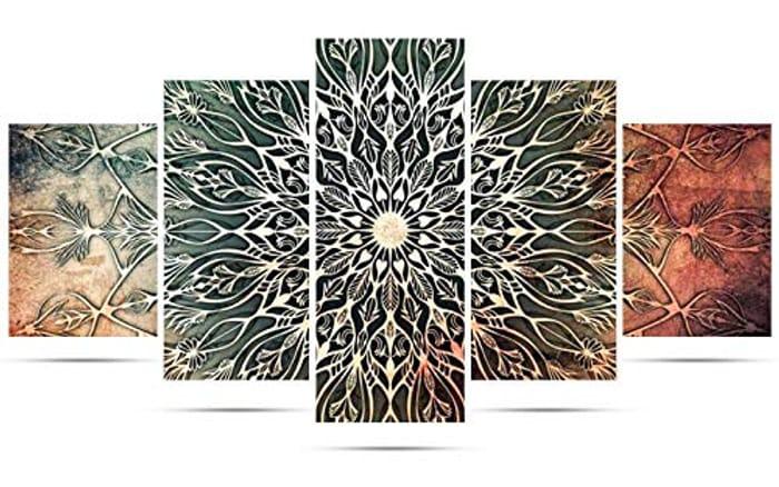 5 Pack Mandala 5D Diamond Painting Kit (Other Options Available)