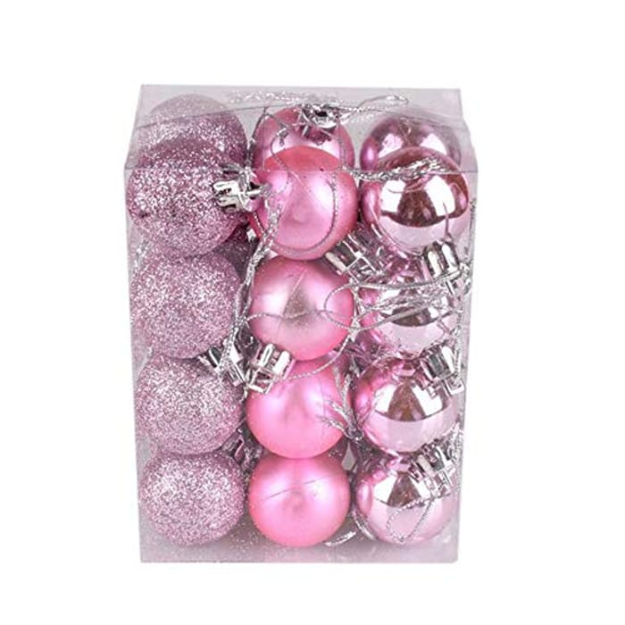 24ct Christmas Balls Ornaments for Xmas Tree, Pack of 24