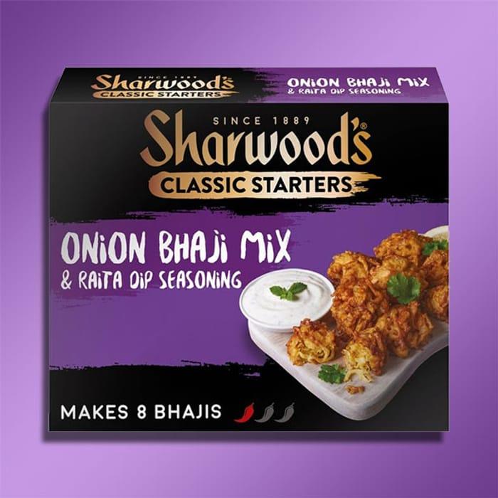 7 X Sharwoods Onion Bhaji Mix 110g Boxes