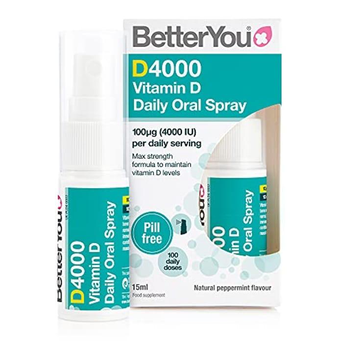 BetterYou D4000 Vitamin D Daily Oral Spray