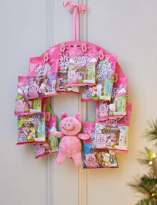 Percy Pig Christmas Wreath (Delivery from 2nd November 2021)