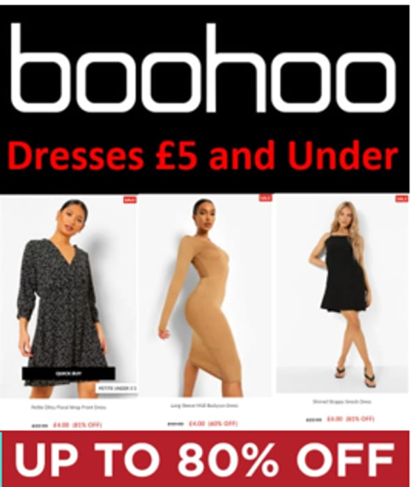 Special Offer! Boohoo Dresses - £5 AND UNDER