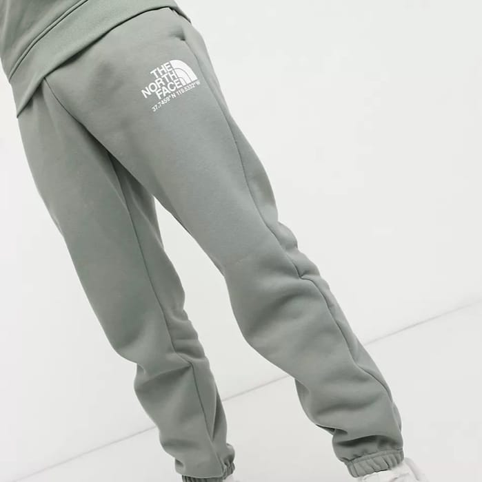 The North Face Logo + Joggers in Green