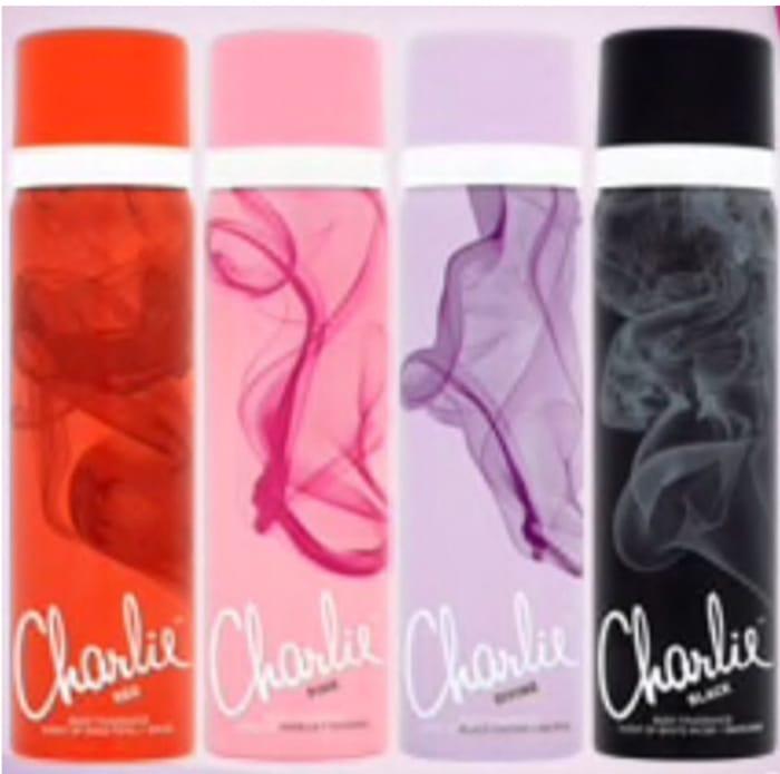 2 for 1.50 Charlie Body Spray Black,Pink,Red,Divine 75ml £1.69 Each