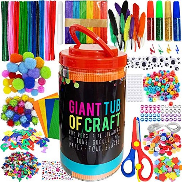 DEAL STACK - MOISO Kids Crafts & Art Supplies Jar 560+ Piece Set + £3 Coupon
