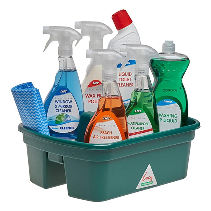 JANIPAK CLEANING KIT - 6 Cleaning Chemicals Cloths and Carrier