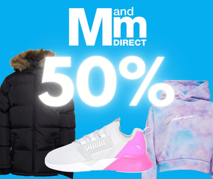 Everything Half Price or Less at MandMDirect!