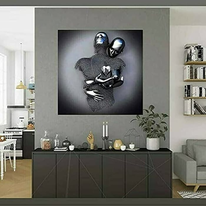 Abstract Metal Figure Sculpture Painting