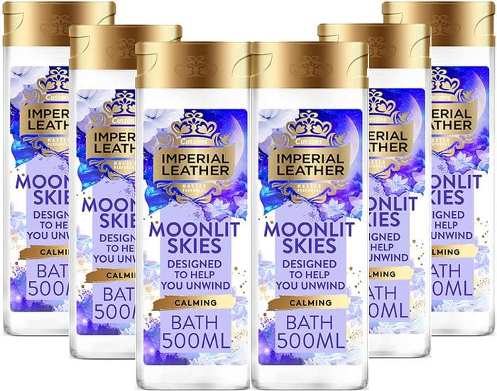 Imperial Leather Bubble Bath Moonlit Skies & White Cashmere 500ml - 6 Pack