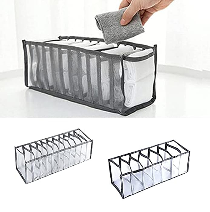 Underwear Drawer Organizer,7/11 Cell Foldable Closet - Only £3.49!