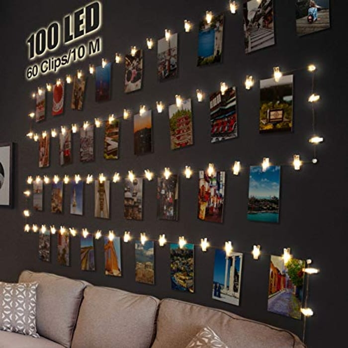 100 LED Photo Clip String Lights