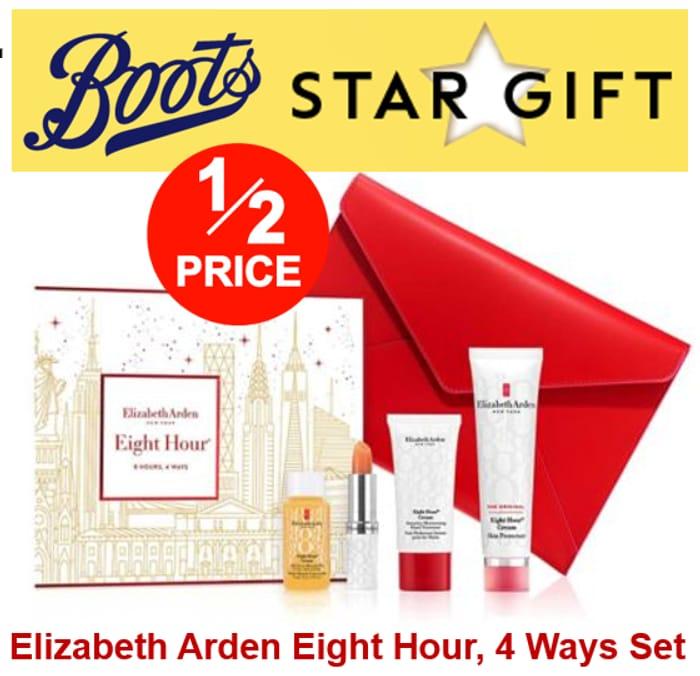 Boots Star Gift - 1/2 Price on Elizabeth Arden Eight Hour Set - (Worth £67)
