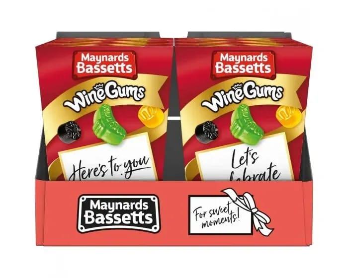 Maynards Bassetts Wine Gums, Pack of 6