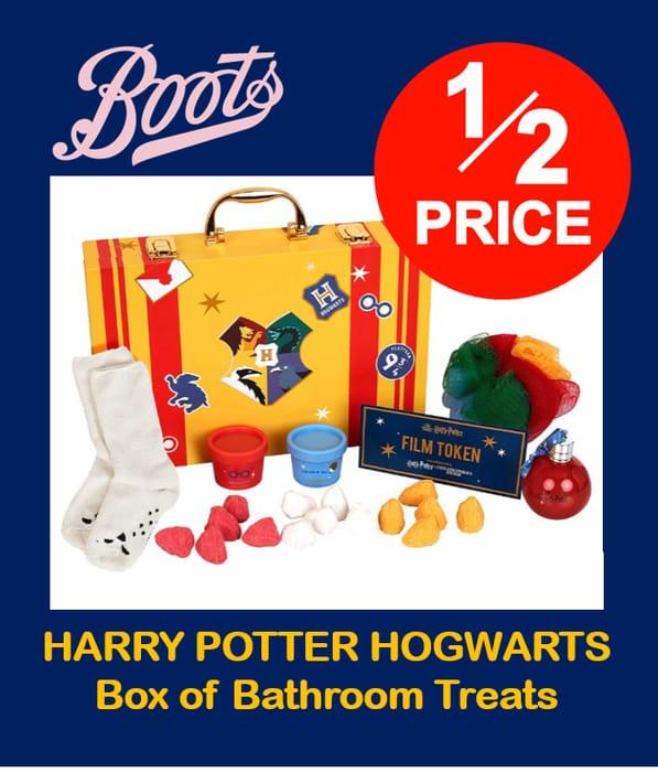 HARRY POTTER HOGWARTS Box of Bathroom Treats - HALF PRICE AT BOOTS