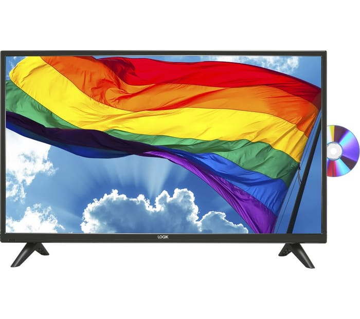 """*SAVE £20* LOGIK 32"""" LED TV with Built-in DVD Player"""