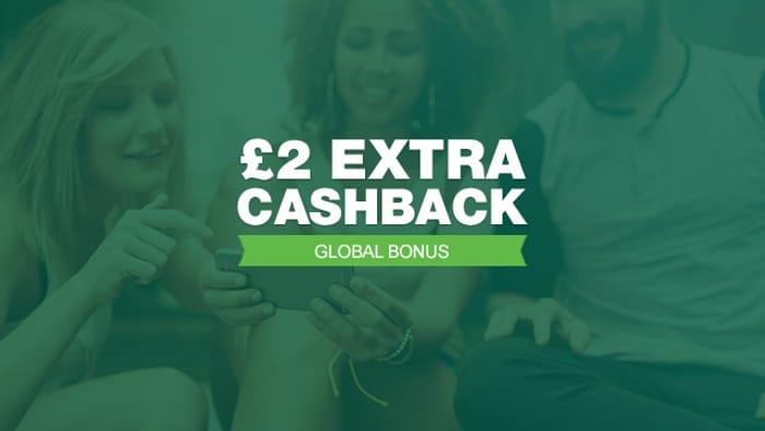 £2 Bonus Cashback on a £10 Spend