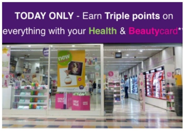 TODAY ONLY Triple Points on Everything with Your Health & Beauty Card