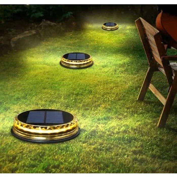 Solar round Disc Garden Lawn Lights